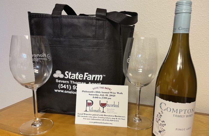 Wine walk merchandise