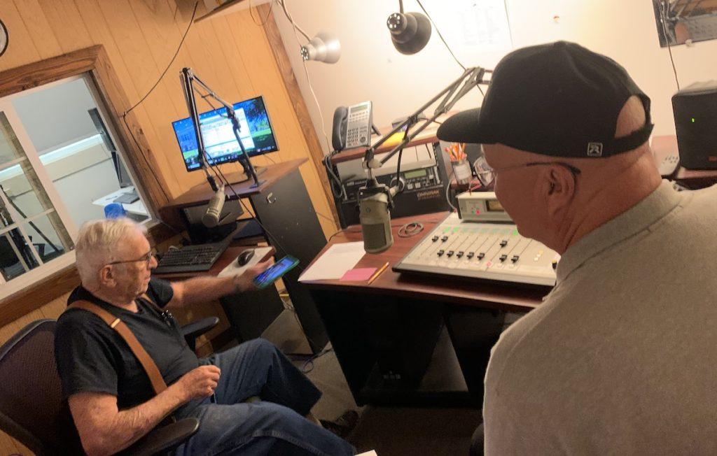 Rich Saalsaa being interviewed on radio station