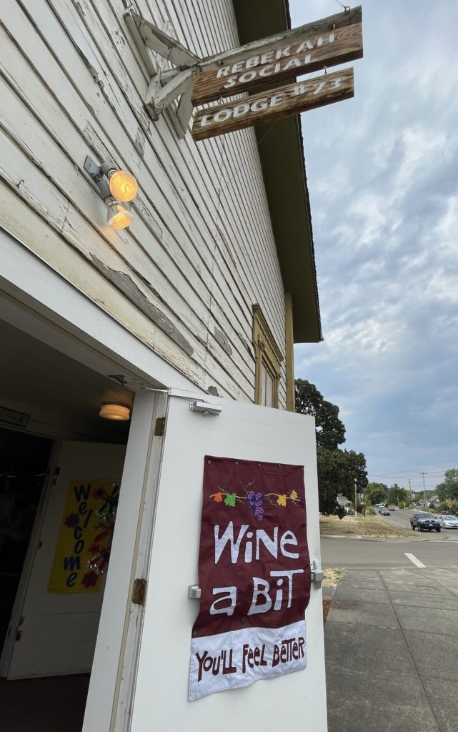 Philomath Uncorked sign