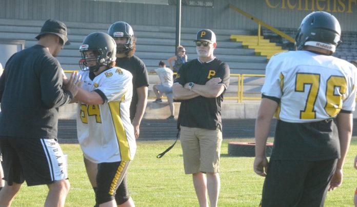 PHS football coach Alex Firth