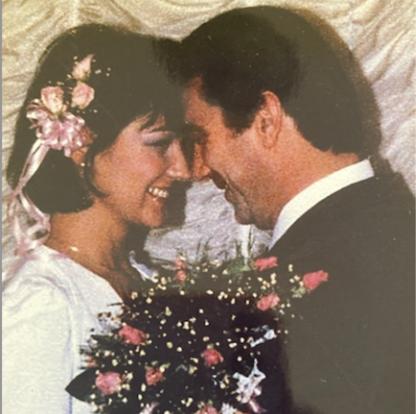Peg and Frank Caridi on their wedding day