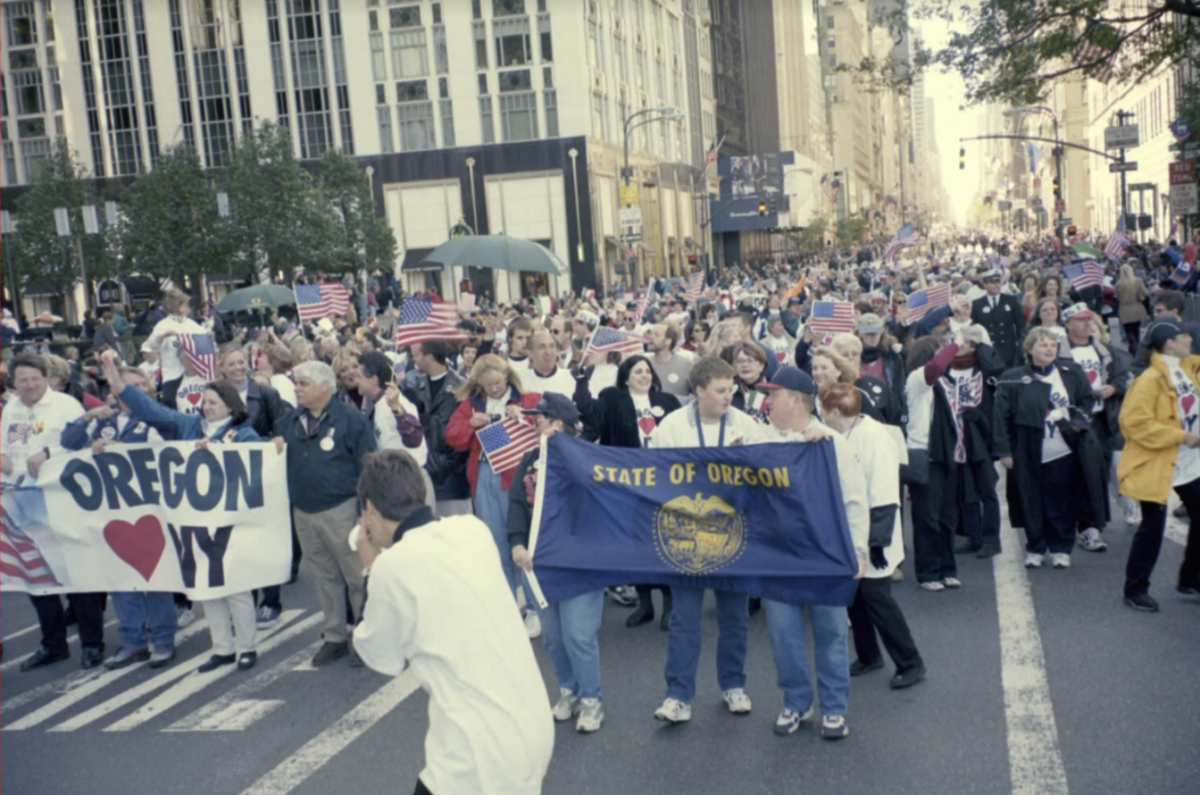 Oregon group in the Columbus Day parade