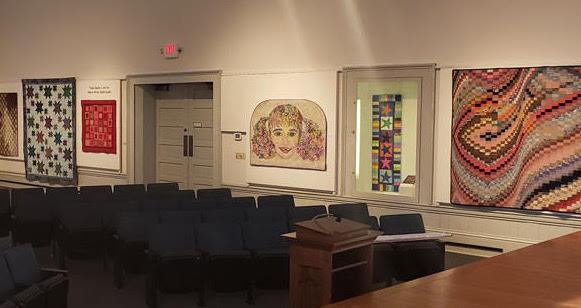 Quilt exhibit at museum