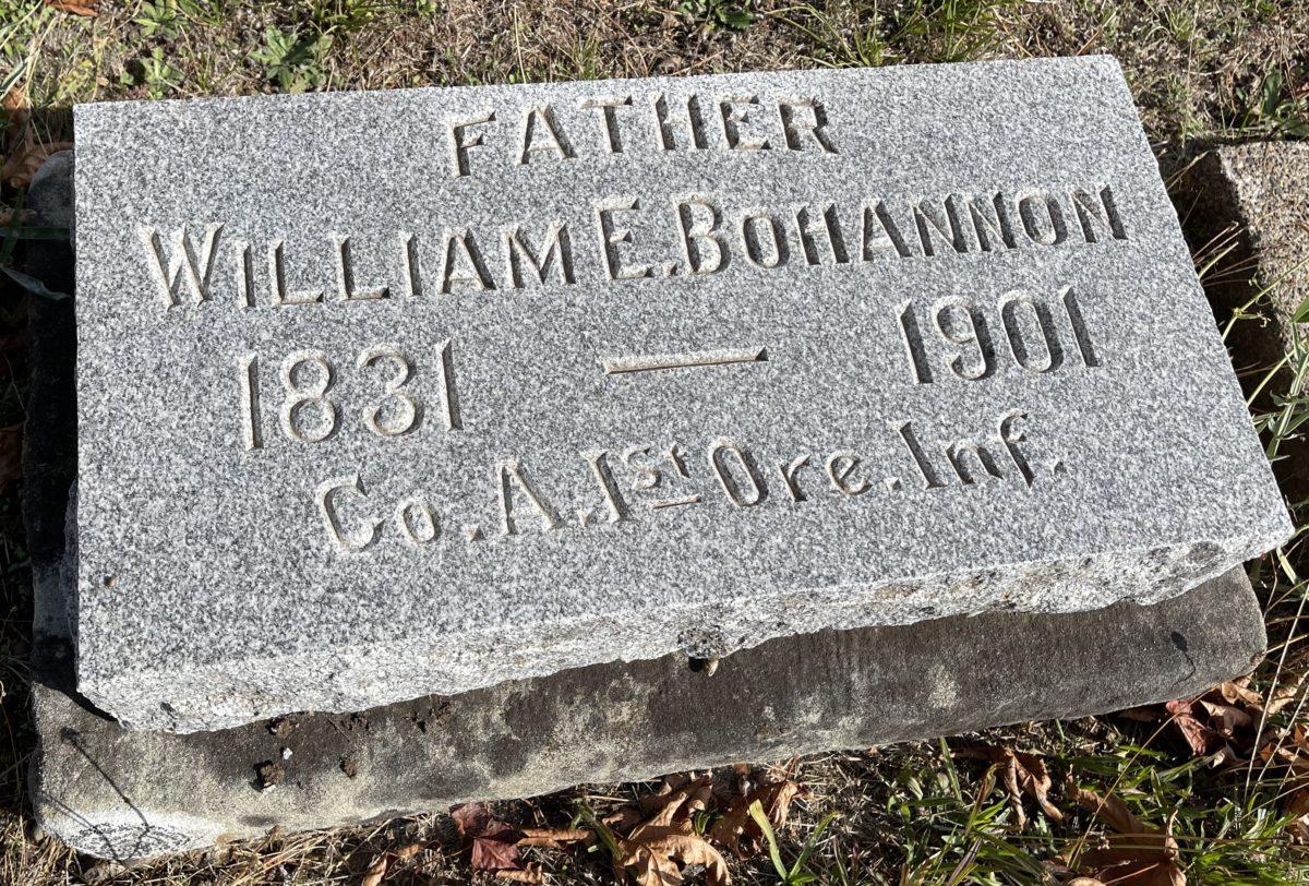William Bohannon grave marker