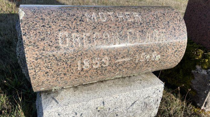 Oregon Clark grave marker